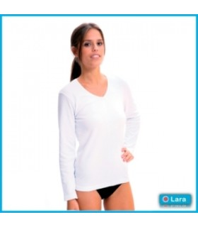 Camiseta Interior Manga Larga Pico Señora, Mod.8310-LARA-