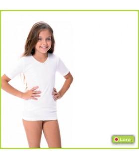 Camiseta Interior Manga Corta Niña, Mod.8600-LARA-