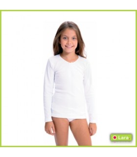 Camiseta Interior Manga Larga Niña, 8610-LARA-