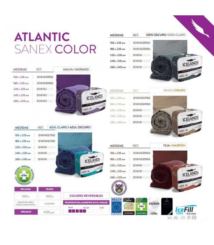 Edredón Nórdico Atlantic Sanex Colores Antiácaros - ICELANDS